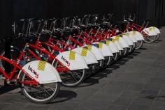 Rower Miejski w Barcelonie w Hiszpanii - Bicing