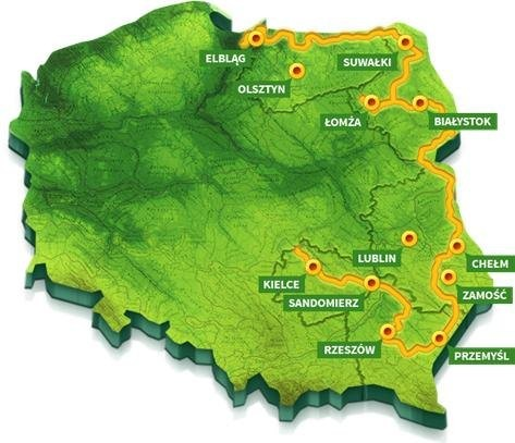 Znalezione obrazy dla zapytania wschodnia granica polski rowerem
