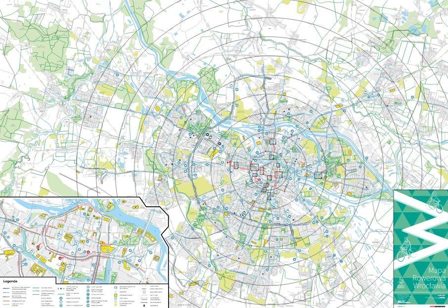 Mapa Sciezek I Drog Rowerowych We Wroclawiu Wrower Pl Rowery